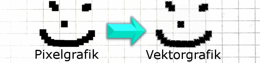 Pixelgrafik in Vektorgrafik umwandeln