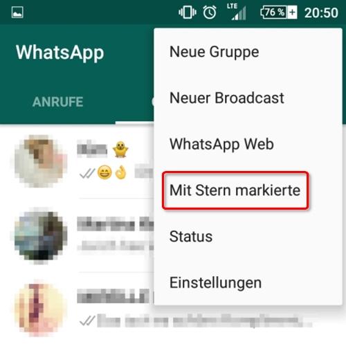 Whatsapp Mit Stern Markierte