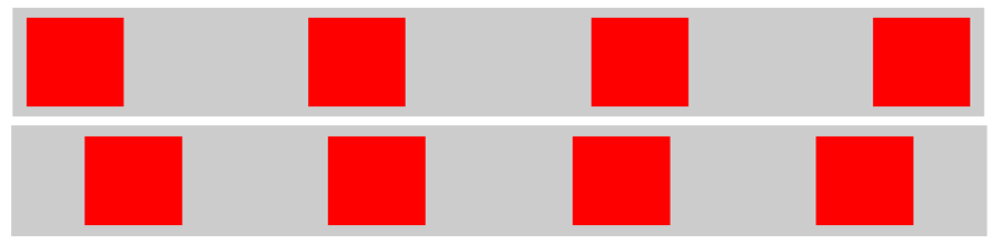 HTML Objekte mit CSS gleichmässig verteilen