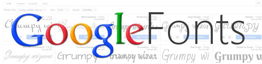 Google Fonts - gratis Schriftart für die eigene Website