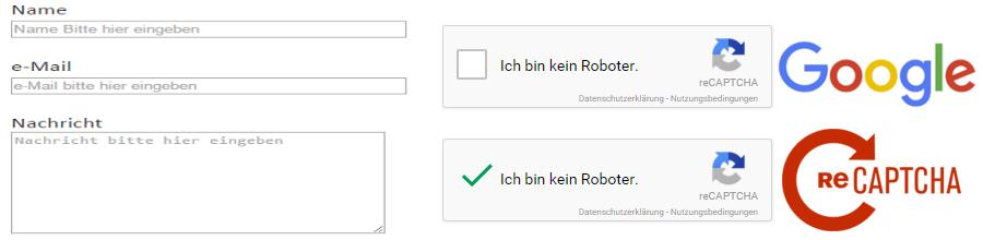 PHP Kontaktformular mit Google reCaptcha Spamschutz